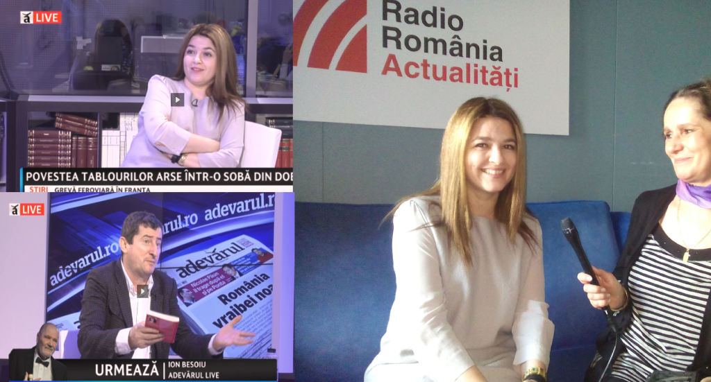 Radio en TV voor presentatie Tascha